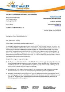thumbnail of Wahlanfrage Freie Wähler